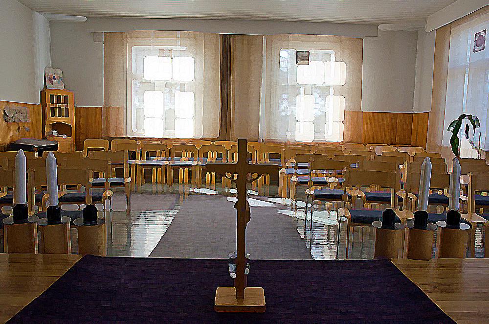 Luostarin kappeli. Käsitelty kuva. Kuva: Ari Luomajoki