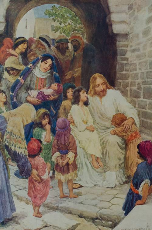 Jeesus ja lapset.