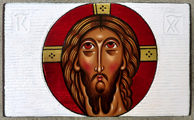 Jesus Christ - modern icon by Anna Makać