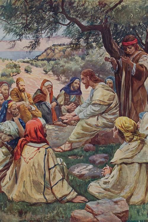 Jeesus opettaa rukoilemaan.